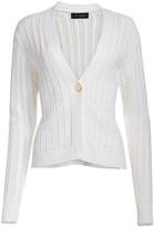 St. John Cable-Knit Cotton Cardigan