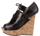 Opening Ceremony Cork Wedge Booties