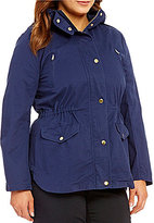 Blu Pepper Plus Cargo Hooded Drawstring Waist Jacket