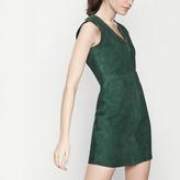Maje Goatskin suede dress with zip