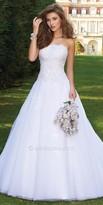 Camille La Vie Beaded Lace Applique Wedding Dress
