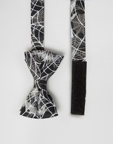 SSDD Halloween Bow Tie with Spider Webs