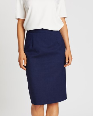 Farage - Women's Navy Pencil skirts - Lane Skirt - Size One Size, 6 at The Iconic