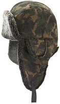 Crown Cap Camouflage-Print Shearling-Lined Aviator Hat