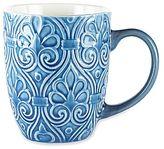 JCPenney Denim Wallpaper Set of 4 Coffee Mugs