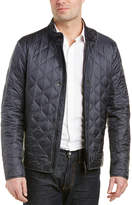 Z Zegna Vinyl Quilted Leather-Trim Blouson Jacket