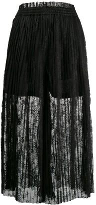 MM6 MAISON MARGIELA Pleated Lace Maxi Skirt