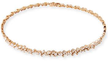 Suzanne Kalan 18K Rose Gold Diamond Baguette Choker Necklace, 2.25 tdcw