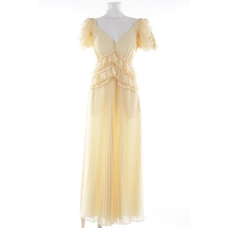 Self-Portrait Yellow Synthetic Dresses