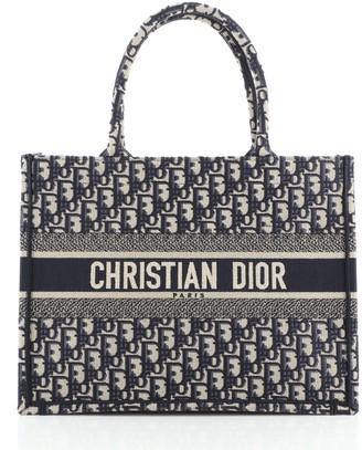 Christian Dior Book Tote Oblique Canvas Small