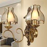 HDX Wall light Wall Light,2 Light,American Style Bedside Lamp Metal