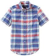 Ralph Lauren Big Boys 8-20 Madras-Plaid Short-Sleeve Shirt