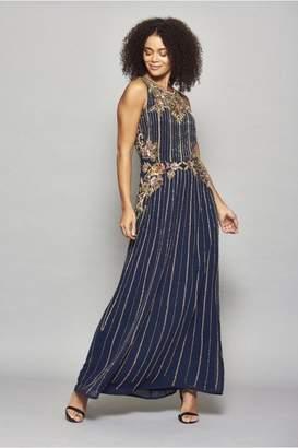 Frock and Frill Hayla Sleeveless Embellished Maxi Dress