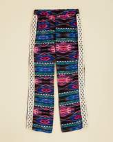 Vintage Havana Girls' Printed Crochet Side Pants