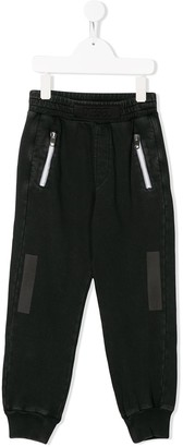Diesel Tape-Detail Straight-Leg Track Pants