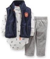 Carter's Baby Boys 3pc Pants Set Little Bandit Department Blue-gray