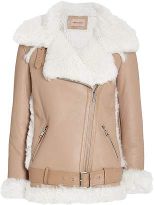Yves Salomon Shearling Moto Jacket