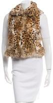Adrienne Landau Printed Fur Vest w/ Tags