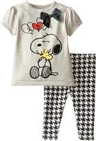 Peanuts Baby Girls' 2pc T-Shirt and Legging Set
