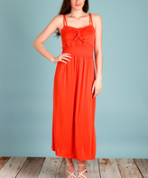 Orange Double-Strap Maxi Dress