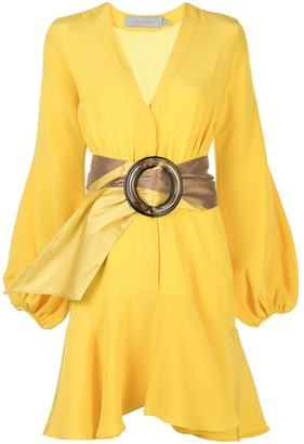 Silvia Tcherassi oversized belt silk dress
