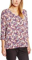 S'Oliver Women's Regular Fit 3/4 Sleeve Blouse Multicoloured Mehrfarbig (multicolour 42A1)