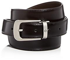 Montblanc Men's Palladium Horseshoe Buckle Reversible Leather Belt