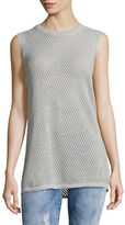 Two By Vince Camuto Petite Pointelle Sleeveless Tunic