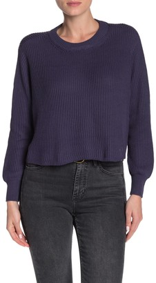 Cotton On Archy Cropped Rib Knit Sweater