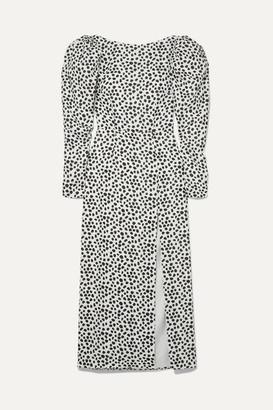16Arlington Printed Cutout Crepe De Chine Dress - White