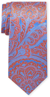 Ted Baker Orange & Blue Paisley Silk Tie