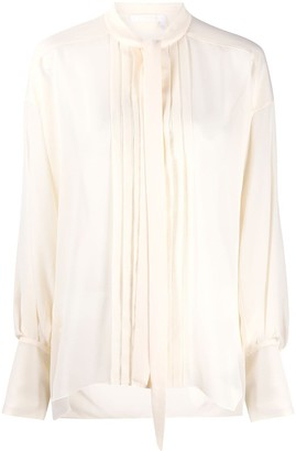 Chloé Pleated Bib Long-Sleeved Shirt