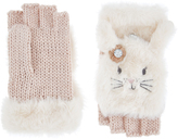Accessorize Lined Fluffy Beverley Bunny Capped Mittens