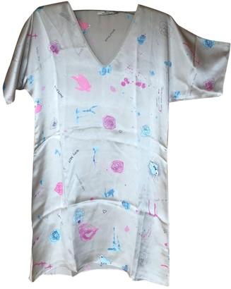 Charlotte Sparre Grey Silk Dress for Women