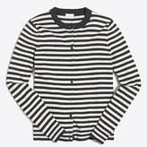 J.Crew Factory Striped Caryn cardigan sweater