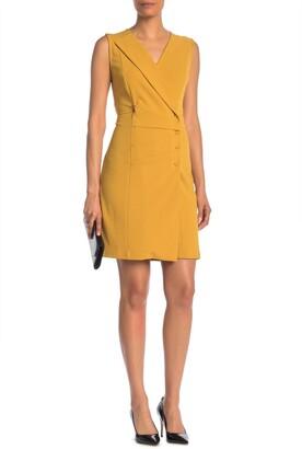 Nanette Lepore Pleated Mini Blazer Dress