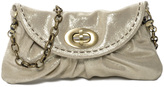 Carla Mancini Champagne Shimmer Leather Clutch