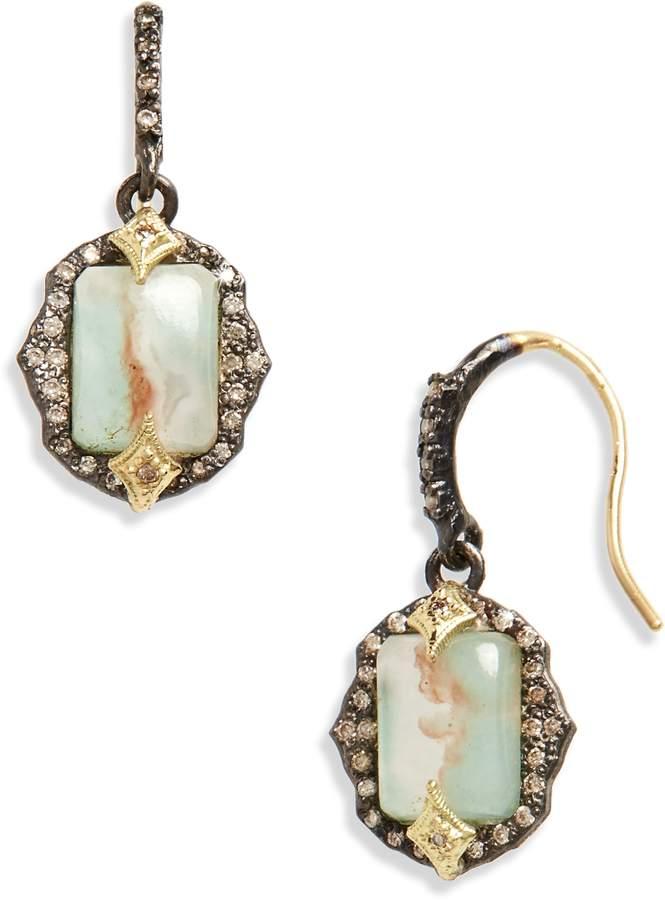 Armenta Old World Emerald Cut Drop Earrings