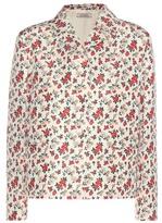 Nina Ricci Floral-printed Silk Jacket