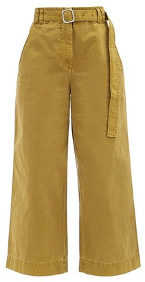 Proenza Schouler White Label Belted Cotton Wide-leg Trousers - Khaki