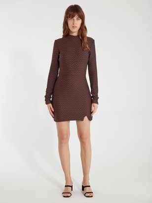 ELLEJAY Penelope Mock Neck Mini Dress