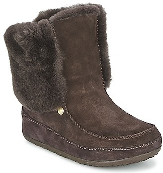 FitFlop MUKLUK MOC CUFF women's Low Ankle Boots in Brown