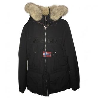 Napapijri Black Fur Coat for Women