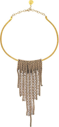 Devon Leigh Mesh Crystal Bar Collar Necklace