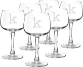 Cathy's Concepts CATHYS CONCEPTS Set of 6 Personalized Red Wine Glasses