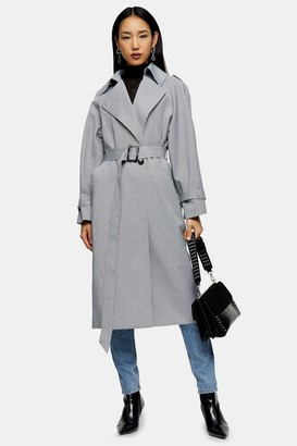 Topshop Womens Check Trench - Multi