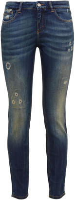 Dolce & Gabbana Distressed Mid-rise Skinny Jeans
