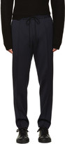 Juun.J Navy Elastic Band Trousers