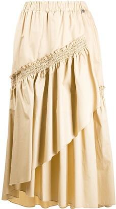 Twin-Set Layered Midi Skirt