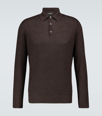 Ermenegildo Zegna Cashmere and silk polo shirt